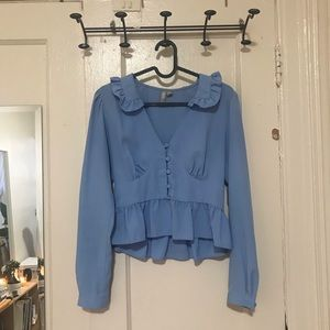 Baby Blue Blouse